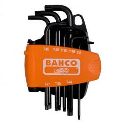 Jeu de 8 clés mâles BE-8675 Bahco, torx, inviolables, brunies