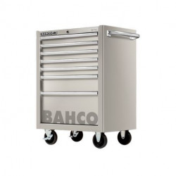 Servante d'atelier robuste 1470K7SS Bahco 7 tiroirs acier inoxydable