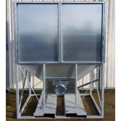 Container Dyna'Contain surélevé galvanisé H50 2,15 m3