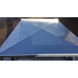 Couvercle pyramidal tôle galvanisée Dyna Touraine