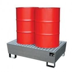 Bacs de rétention acier Cemo pour bidons et fûts