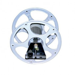 Dévidoir simple Cemo pour 25 m de Ø 19 mm avec support fixe