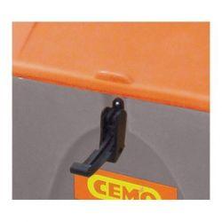 Grenouillère de fermeture Cemo pour coffre à sel PE mobile 75 litres