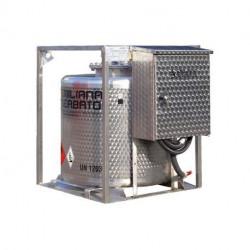 Traspo 330 inox Emiliana Serbatoi, réservoir essence de transport aux normes ADR