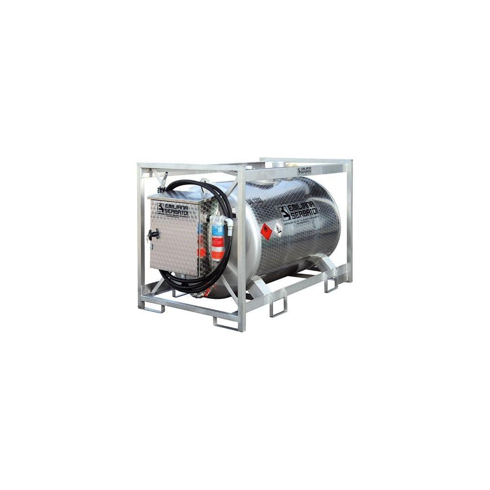 Traspo 910 inox Emiliana Serbatoi, réservoir gasoil de transport aux normes ADR