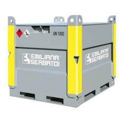 Emilcube 980 Emiliana Serbatoi, réservoir métallique de transport aux normes ADR