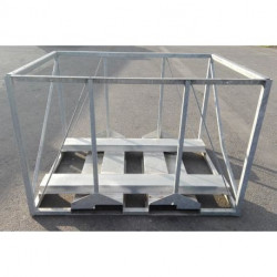 Chassis double fourreaux en option pour Dyna-Contain de 1 à 4 m3