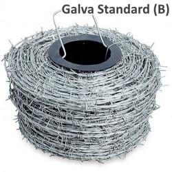 Ronce / Barbelé douce IOWA Galvanisation standard - Rouleau de 200m