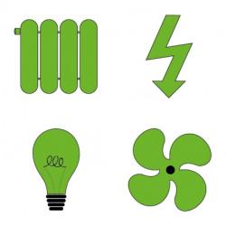 Option électricité - éclairage - chauffage - ventilation forcée Axe Environnement