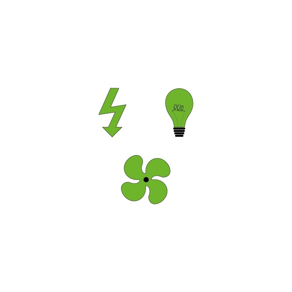 Option électricité - éclairage - ventilation forcée Axe Environnement