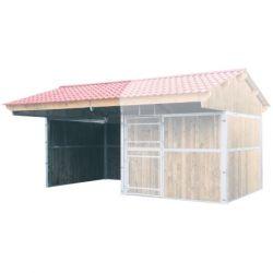Extension ouverte pour abri double pente larg. 4 m x prof. 3 m La Gée Cheval