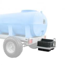 Bac à eau arrière OPTBACAR Duraplas pour châssis roulant