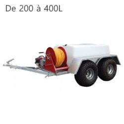 Groupes d'arrosage roulants Aquamaster Duraplas sur chassis galvanisé (200 à 400L)