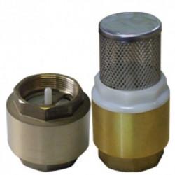 Clapets antiretour Duraplas, 26X34 mm laiton avec crépine