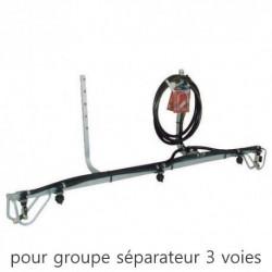 Rampe Versatile Duraplas 3 voies pour groupe séparateur 3 voies