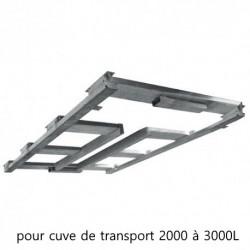 Châssis palette galvanisé Duraplas pour cuves de transport Eau et Engrais