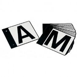 12 lettres de dressage sur plaque métallique La Gée