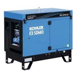 Groupe électrogène monophasé DIESEL 6000 E SILENCE AVR Kohler SDMO