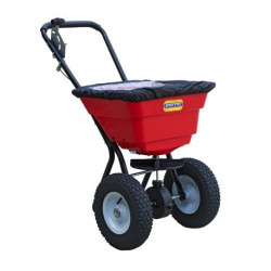 Epandeur à sel et à engrais Perrin 29 litres avec roues gonflées et protection