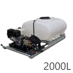 Nettoyeur haute pression + cuves Durawash Duraplas Interpump - 2000 L