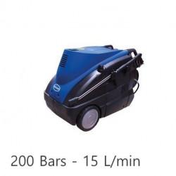 Nettoyeur haute pression TEC-2 Renson tri eau chaude avec enrouleur et total stop 200 bars - 15L/min