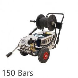 Nettoyeur haute pression SILVERTRIO Renson tri eau froide avec enrouleur et total stop 150 bars