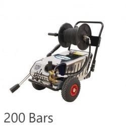 Nettoyeur haute pression SILVERTRIO Renson tri eau froide avec enrouleur et total stop 200 bars