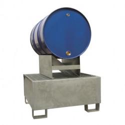 Support galvanisé Agrifournitures pour fût 200 L