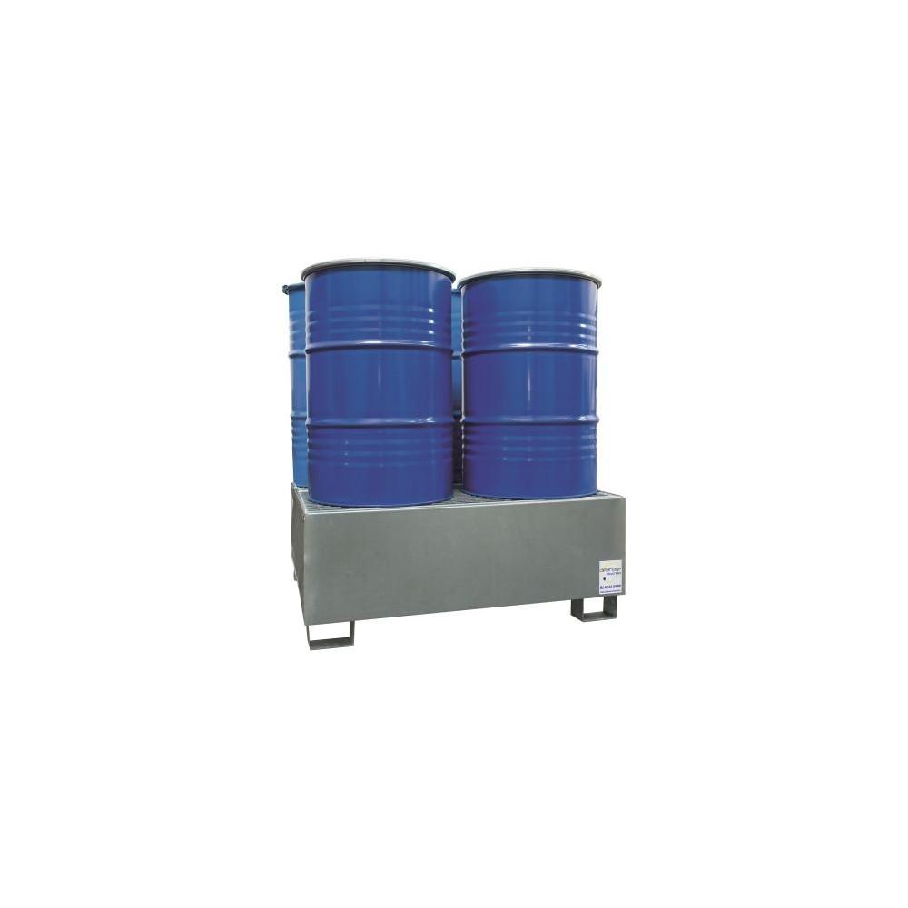 Bac de rétention galva Agrifournitures, 4 fûts - 440 L