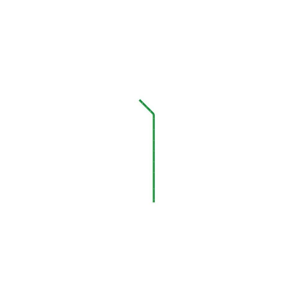 Poteaux T de défense 2,50 m avec bavolet de 50 cm, plastifié vert