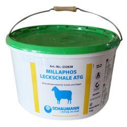 Bloc à lécher ovins caprins Bio Millaphos Leckschale Schaumann
