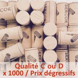Bouchon de liège colmaté Qualité C ou D - 45 x 24 mm, sac de 1000