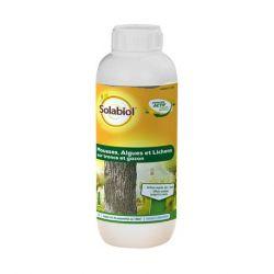Mousses, algues et lichens sur troncs et gazon Solabiol - 1 L