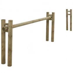 Barrière coulissante pin traité classe 4 vert, passage 3,6 m