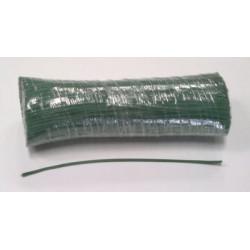 Liens plastiques verts armés 1 fil diamètre 0,45mm longueur 15 cm (botte de 1000)