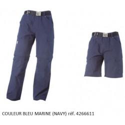 Pantalon Bleu Marine Timberland Pro 611 Multi-Poche 2 en 1 transformable en Short