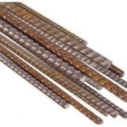 Tuteur acier brut cranté type fer à béton longueur 1m