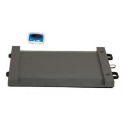 Plateforme de Pesage Ultra-Résistante jusqu'à 500 kg avec écran numérique et roulettes
