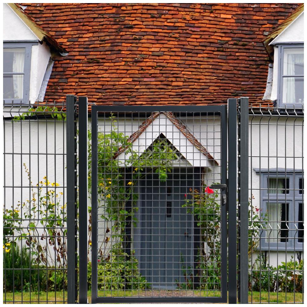 Grillage Jardin Hauteur 2M portillon grillagé gris anthracite classic - largeur 1m