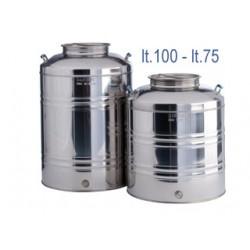 Fût Inox Alimentaire Très Grande Capacité 75 ou 100 Litres
