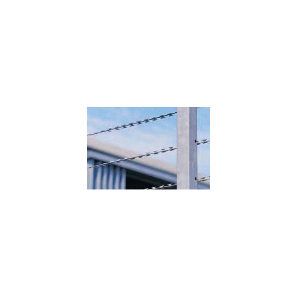 Concertina/Milironce à Plat, en Ligne, Fil Barbelé à Doubles lames anti-intrusion - Longueur 100m