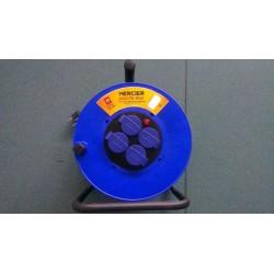 Enrouleur 40 m - 3 G 2,5 mm² - H07RNF 4 Prises + Clapets / IP 44 / 16 A