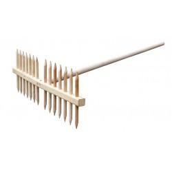 Rateau à faner en bois longueur 1,60 m avec 12 dents