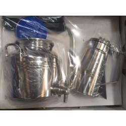 Coffret Cadeau : 1 Petit Fût Inox 3 Litres + 1 Huilier Inox Litres