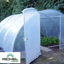 Serre de jardin professionnelle 27m² - 4,5mx6m - 2 portes
