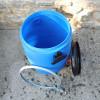 Fût plastique Alimentaire bleu à Ouverture Totale - Homologués UN