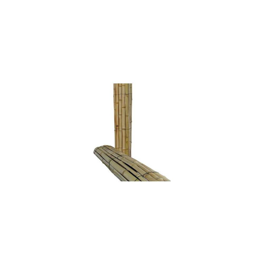 Protection de tronc en natte de bambous hauteur 2m - Tronc de bambou decoratif ...