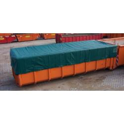 Bâche 3,5x5m PVC Verte ULTRA PRO 580gr/m2 Anti-UV 4 ans, Spéciale Bennes, Bois, Véhicule...