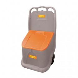 Coffre Mobile à Sel ou Sable en Polyéthylène capacité 75 litres