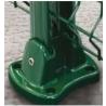 Platine Aluminium Vert et Gris pour Poteau à Panneau Rigide EasyClip